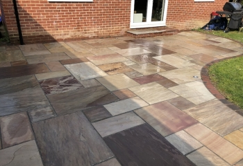 Professional, beautiful patio cleaned by All Seasons Window Cleaning