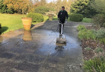 Power washing and pathway patio in Basingstoke, Hampshire